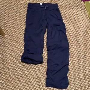 Ivivva navy warm up pants with adjustable pant
